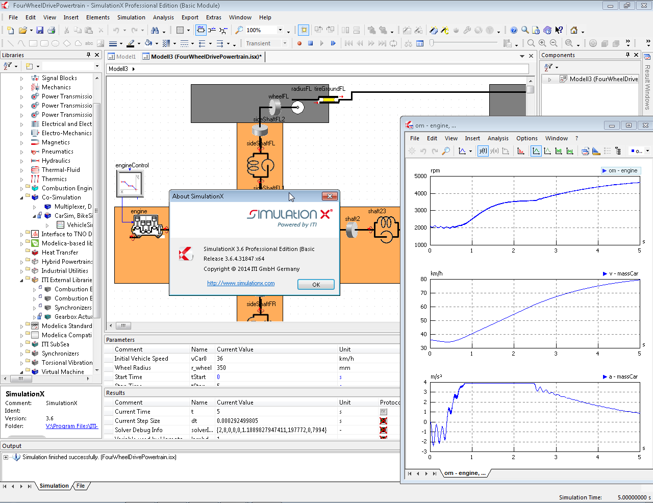 Working with ITI SimulationX 3.6.4 full license