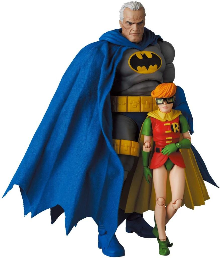 MAFEX《蝙蝠俠:黑暗騎士歸來》蝙蝠俠(藍色版)&羅賓 可動人偶
