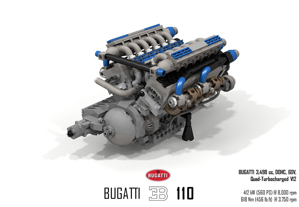 Bugatti Eb110 Gt Ucs 3 5l V12 Dohv 48v Quad Turbo Engine Flickr