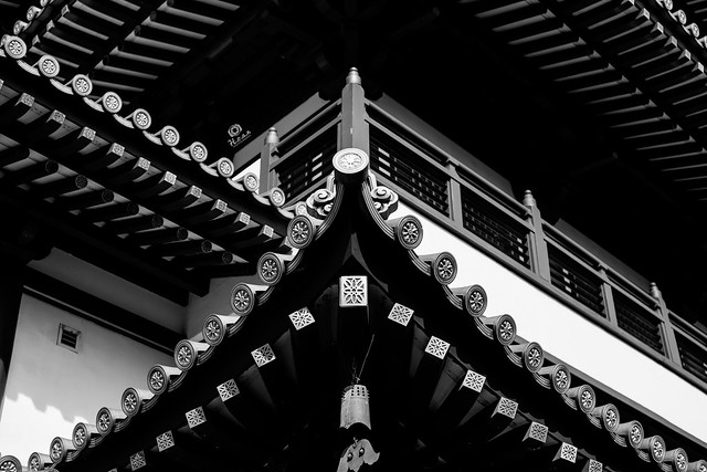 The roof of Buddha Tooth Relic Temple - Singapore