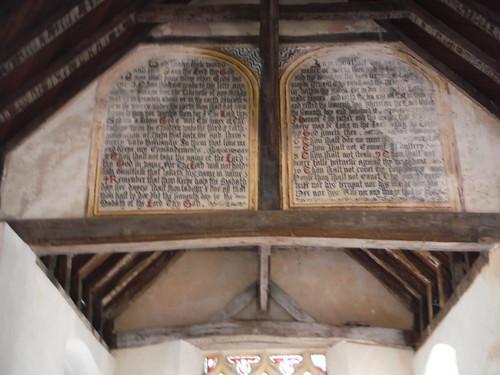 The 10 Commandments Mural, St. Richard's Church, Burton Park SWC Walk 39 - Amberley to Pulborough