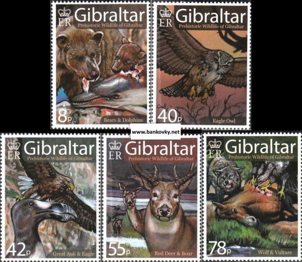 Známky Gibraltar 2007 Prehistorická flóra neraz. séria MNH