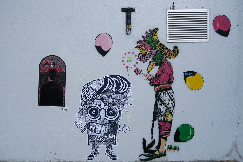 Street art by Anagard & Trollux2Luxe