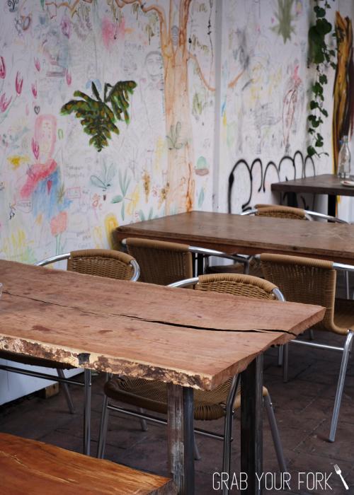 Courtyard dining area at Bush Redfern Sydney