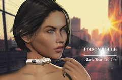 POISON ROUGE Black Tear Choker