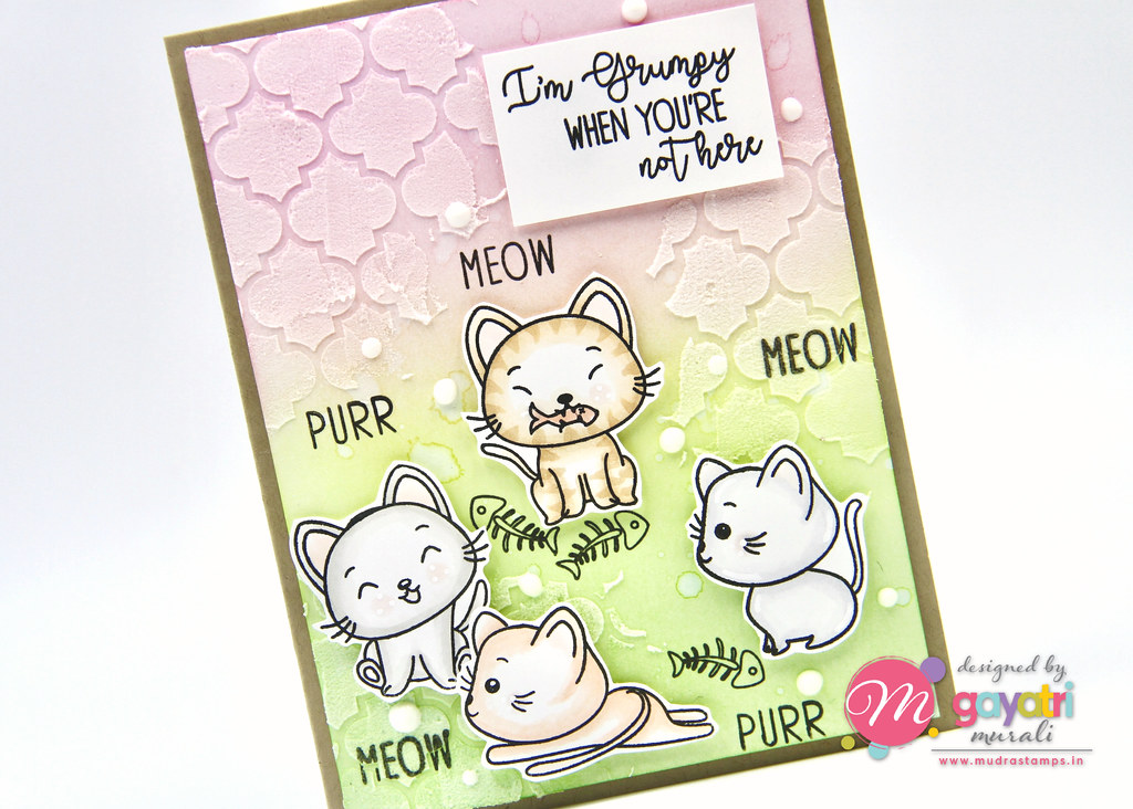 Cute Critter card #3 closeup