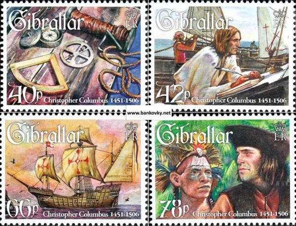 Známky Gibraltar 2006 K. Kolumbus neraz. séria MNH