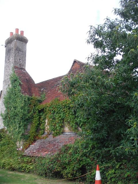 Ivy-clad house, Tripp Hill SWC Walk 39 - Amberley to Pulborough
