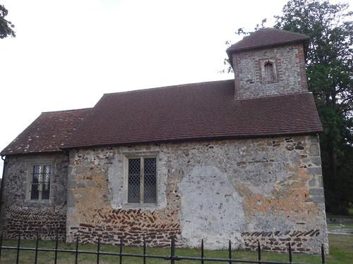 St. Richard's Church, Burton Park: sideview SWC Walk 39 - Amberley to Pulborough