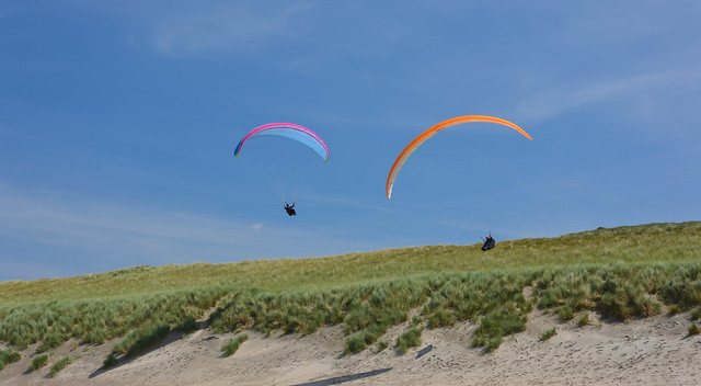Colorful Paragliders