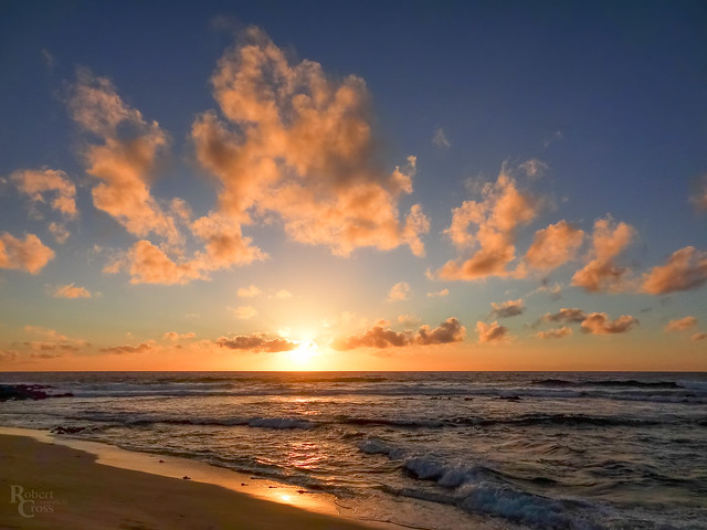 Sandy Beach Surf and Sunrise