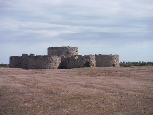 Camber Castle across the marshes SWC Walk 365 - Rye Figure of 8