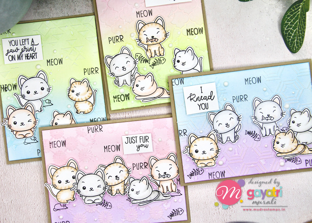 Cute Critter card set closeup