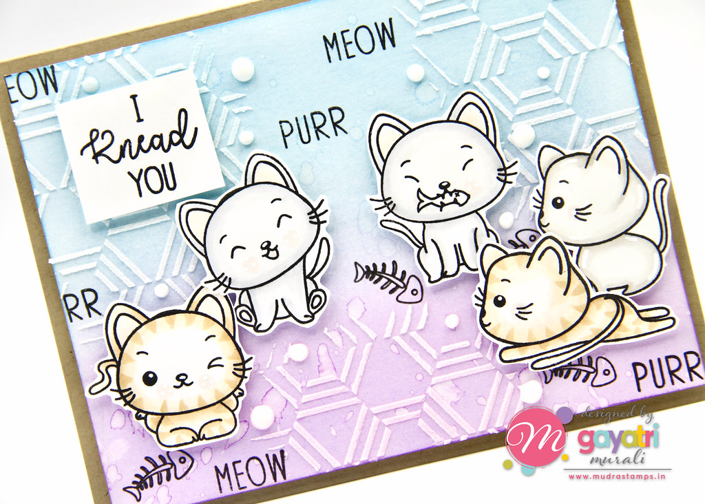 Cute Critter card #1 closeup