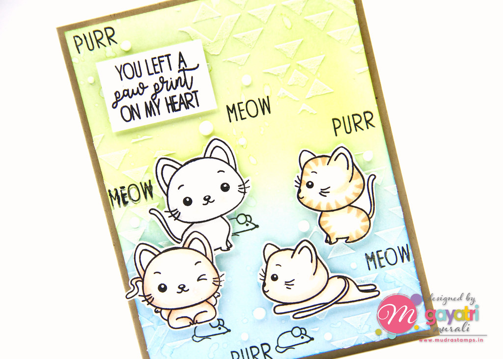 Cute Critter card #4 closeup