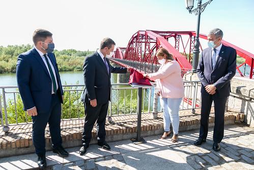 Inauguración de la rehabilitación del Puente Reina Sofía en Talavera de la Reina