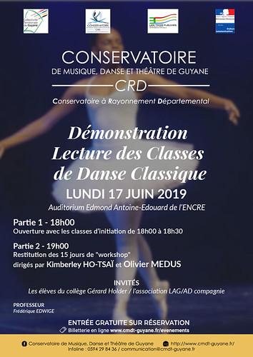 Démonstration lecture des classes de danse classique (17/06/2019)