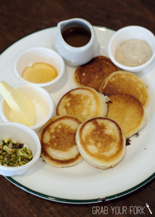 Pikelets with toppings at Bush Redfern Sydney