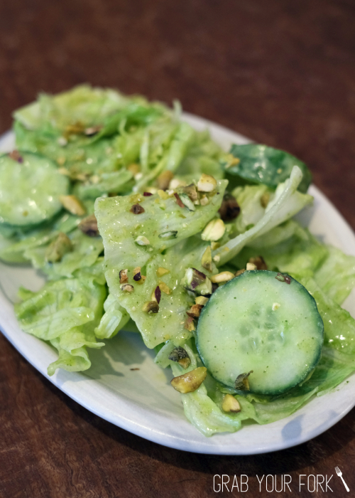 Dirty vegetables or iceberg lettuce with pistachios at Bush Redfern Sydney