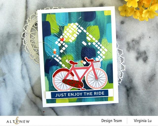 Altenew-Enjoy The Ride PaperPad-Burlap Texture Die-Blooming Ephemera-004