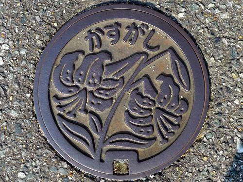 kasuga Fukuoka, manhole cover 2 (福岡県春日市のマンホール2)
