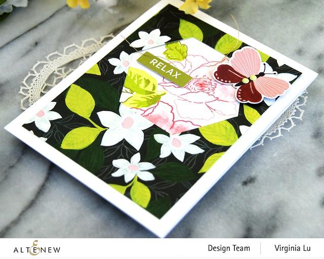 Altenew-Enjoy The Ride PaperPad-NatureWithin Stamp-Geo Frame Die-001