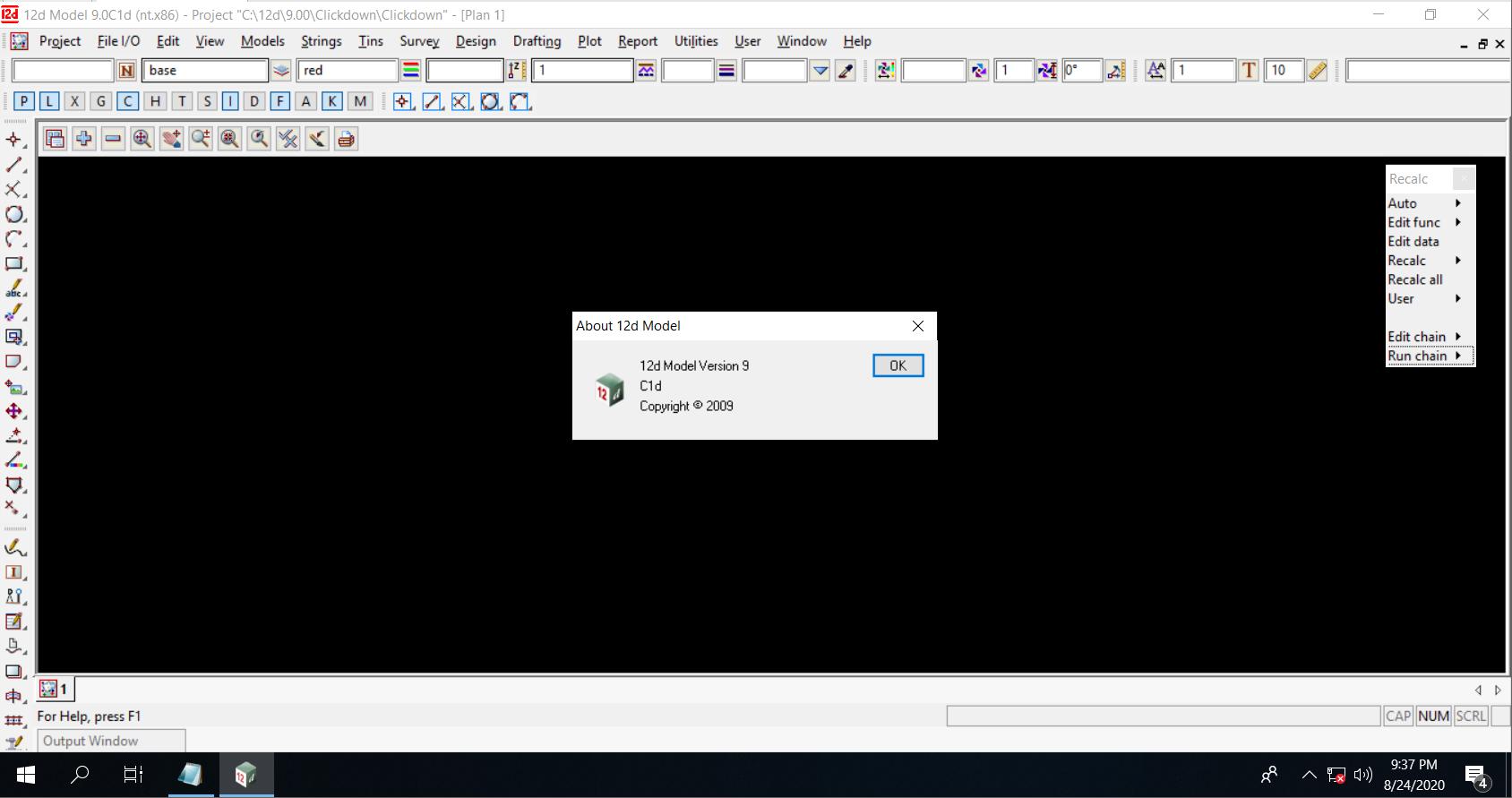 Working with 12d Model v9.0 C1d full license