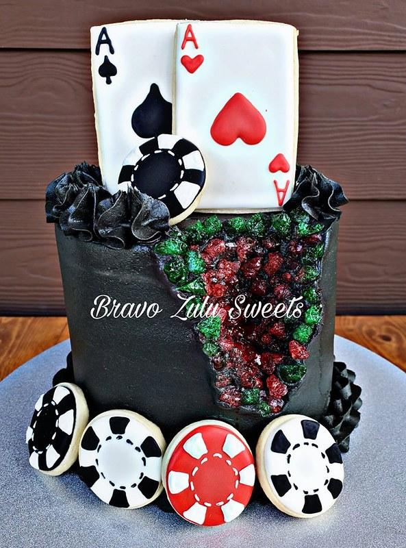 Poker Geode Cake by Bravo Zulu Sweets