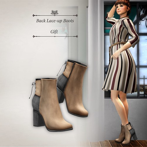 Back Lace-up Boots (Group Gift)