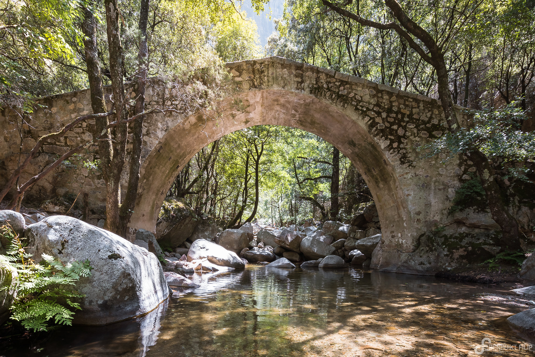 Gorges de la Spelunca, Zaglia-Bridge