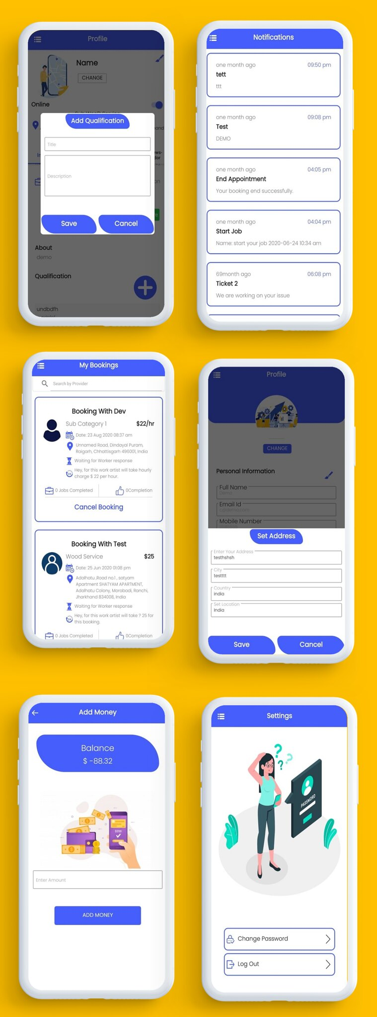 U Clab Service App | Service At Home | Multi Payment Gateways Integrated | Multi Login - 4