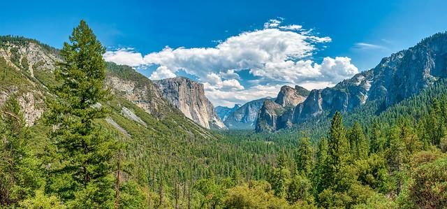 Yosemite Valley 35-shot HDR Panorama with El Capitan and Half Dome