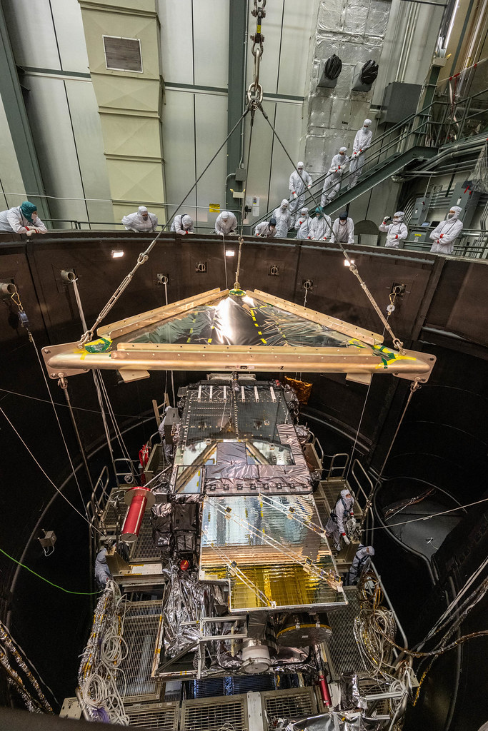 GOES-T lift to Thermal Vacuum Chamber.