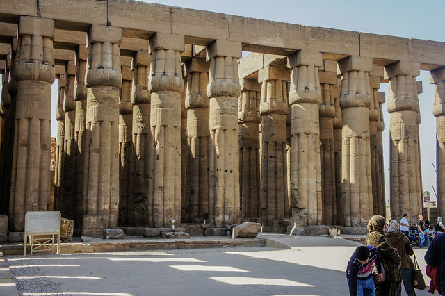 The hypostyle hall in the Luxor temple