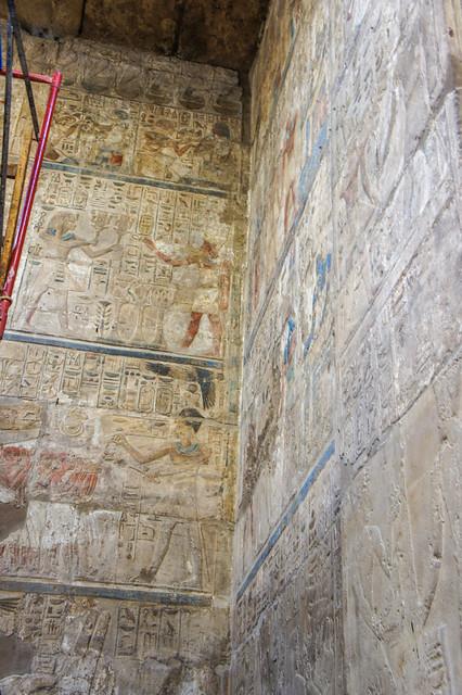Ancient Egyptian hieroglyphics at Egypt's Luxor Temple