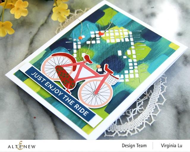 Altenew-Enjoy The Ride PaperPad-Burlap Texture Die-Blooming Ephemera-002