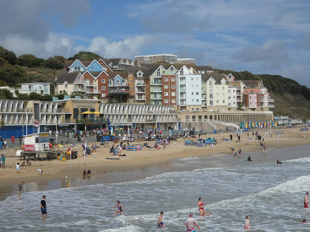 Boscombe seafront, viewed from the Pier