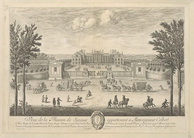 """The BL King's Topographical Collection: """"Veue de la Maison de Sceaux appartenant a Monseigneur Colbert """""""