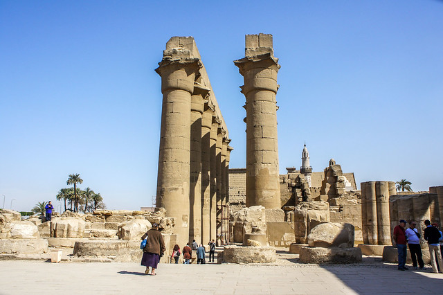 The Processional colonnade in Egypt's Luxor temple
