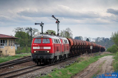 217 012 + 217 xxx 47577 db cargo tüssling 17 avril 2009 laurent joseph www wallorail be