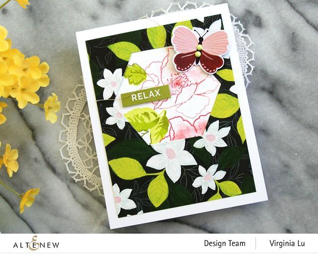 Altenew-Enjoy The Ride PaperPad-NatureWithin Stamp-Geo Frame Die-002