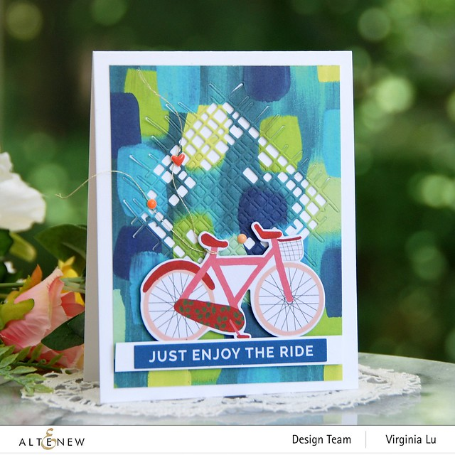 Altenew-Enjoy The Ride PaperPad-Burlap Texture Die-Blooming Ephemera