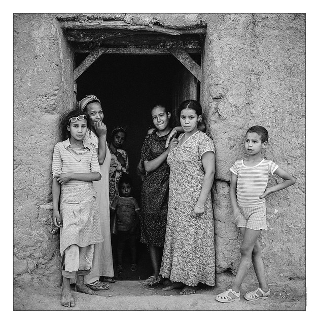 Marraketch, femmes et enfants. 1985
