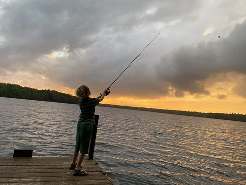 family vacation maine me emery princeton camping camp longlake biglake fishing sunset