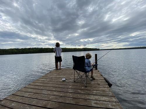 family vacation maine me emery holden princeton camping camp longlake biglake fishing
