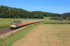 Re 420 307-1 sur un train postal; Elgg 21/08/2020