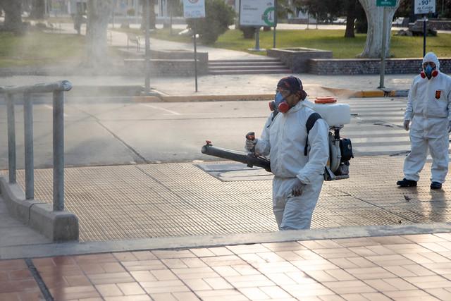 2020-08-24 Desinfección en zonas bloqueadas de Capital