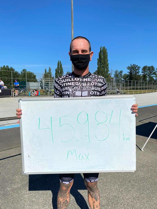 Jerry Baker Memorial Velodrome Hour Elite Men Hour Record - Max Haggard - 45.984km