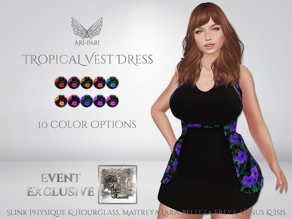 [Ari-Pari] Tropical Vest Dress