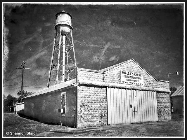 Needville Tx. Garage and Water Tower